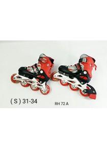 Adjustable Inline Roller Skate - Red Black (S Size)