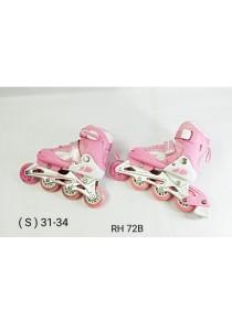 Adjustable Inline Roller Skate - Pink Size S