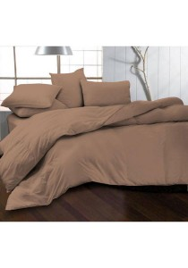 Essina 100% Cotton Fitted Bedsheet Set with Quilt Cover Set - Riverbed (King)