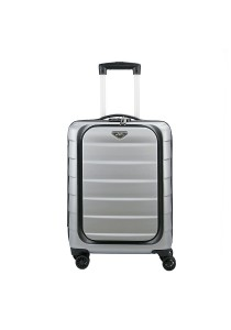 "Royal McQueen Laptop Compartment 20"" Hard Case Luggage - QTH6909 (Silver)"