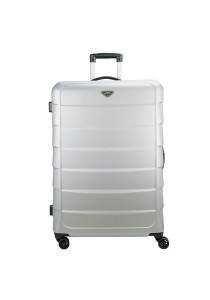 Royal McQueen Stylish 8 Wheels Spinner 24'' Hard Case Luggage - QTH6909 (Silver)