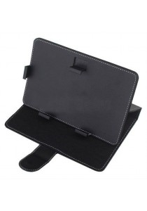 Quality Leather Case for 10.1 Inch Tablet (Black)
