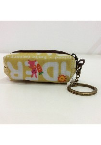 Queen and Cat Waterproof KeyChain Holder Purse (Bunny and Carrot)