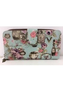 Queen And Cat Waterproof Long Wallet with Buckle (Rose Design)