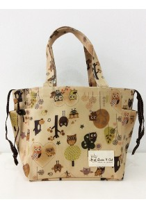 Queen And Cat Waterproof String Bento Bag (Owl and Tree)