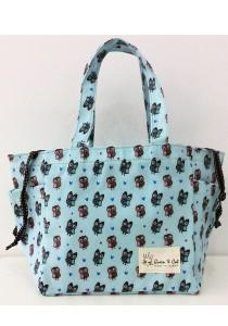 Queen And Cat Waterproof String Bento Bag (Owl in Baby Blue)