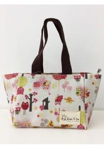 Queen And Cat Waterproof Woven Bento Bag (Owl and Tree)