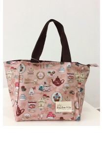 Queen And Cat Waterproof Picnic Bag (Tea Party)