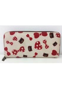 Queen And Cat Waterproof Long Wallet (Pink Ribbon)