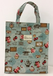 Queen And Cat Waterproof Large Tuition Bag (Tea party)