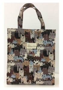 Queen And Cat Waterproof Large Tuition Bag (Colourful Cats)
