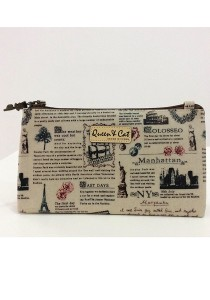 Queen and Cat Waterproof Medium 3 Layer Pouch (Paris Tower)