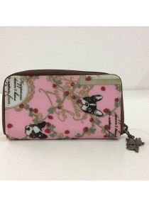 Queen And Cat Waterproof Zipper Keyholder (Grass and Dog in Pink Background)