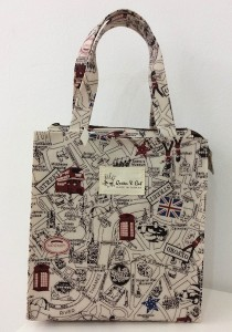 Queen And Cat Waterproof Small Tuition Bag (London Street)