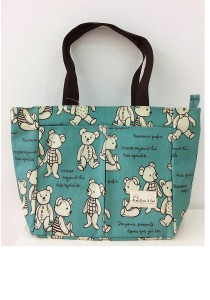 Queen And Cat Waterproof Mummy Bag (White Bears)