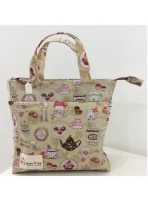 Queen And Cat Waterproof Twin Pocket Bag (Tea Party)