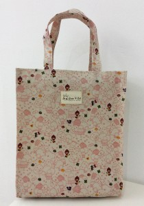 Queen And Cat Waterproof Extra Large Tuition Bag (Tree in Light Pink Background)