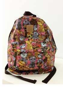 Queen And Cat Waterproof Classics Backpack (Colourful Cats)