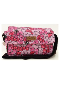 Queen And Cat Waterproof Large Sling Bag (Pink Ribbon)