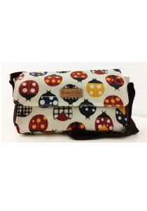 Queen And Cat Waterproof Large Sling Bag (Colourful LadyBird)
