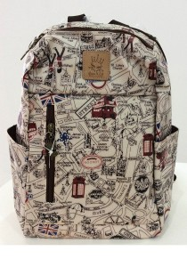 Queen and Cat Waterproof Lovely Backpack (London Street)
