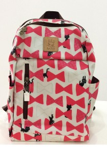 Queen and Cat Waterproof Lovely Backpack (Pink Ribbons)