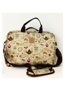 Queen And Cat Waterproof 14 inches Laptop Bag (Tea Party)