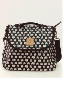 Queen and Cat Waterproof 3 Ways Bag (Hippo in Black Background)