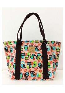 Queen And Cat Waterproof Medium Shoulder Bag (Colourful Owl)