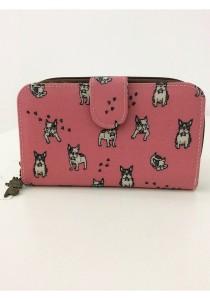 Queen And Cat Waterproof Medium Wallet with Bucket (Dogs in Pink Background)