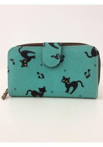 Queen And Cat Waterproof Medium Wallet with Bucket (Music and Cats)