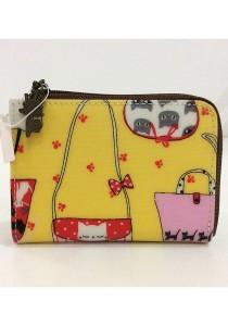 Queen and Cat Waterproof Coins Wallet (Bags in Yellow Background)