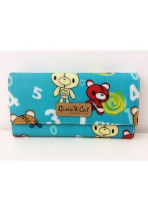 Queen And Cat Waterproof 3 Folds Wallet with Buckle (Teddy Bears)