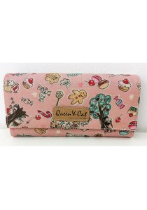 Queen And Cat Waterproof 3 Folds Wallet with Buckle (Party Design)