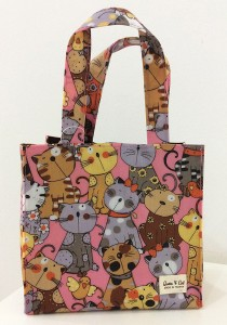 Queen And Cat Waterproof Small Bento Bag (Colourful Cats)