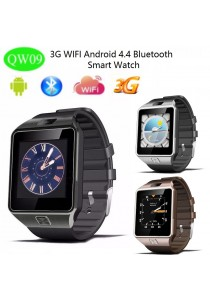 QW09 Android4.4 3G Bluetooth 4.0 MTK6572 Dual Core 512MB RAM 4GB ROM Pedometer Smart Watch