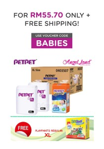 PETPET Super Saver Night Box XL + FOC Babylove Regular Playpants