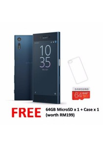 Sony Xperia XZ F8332 64GB/3GB (Forest Blue) + FREE 64GB microSD + Back Case