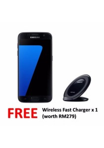 Samsung Galaxy S7 Flat/G930FD 32GB/4GB (Black Onyx) + FREE Wireless Charger