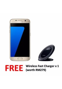 Samsung Galaxy S7 Flat/G930FD 32GB/4GB (Gold Platinum) + FREE Wireless Charger