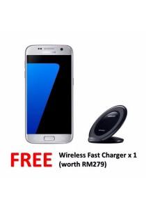 Samsung Galaxy S7 Flat/G930FD 32GB/4GB (Silver Titanium) + FREE Wireless Charger
