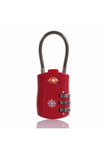 Cosas United TSA Security Luggage Lock (Red)