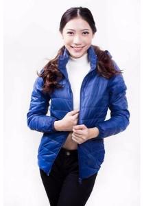 Ultra Light Hooded Short Down Jacket (Dark Blue)
