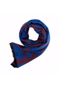 Cosas United Printed Royal Blue Scarf