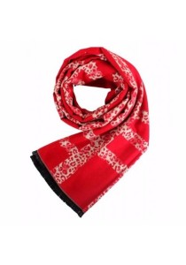 Cosas United Printed Red Scarf