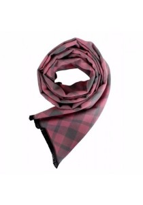 Cosas United Grid Light Pink Scarf