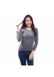 Cosas United Women's Cashmere Top (Light Grey)