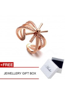 Arche Descendent of The Sun Korean Drama Inspired Layered Adjustable Ring (Rose Gold)