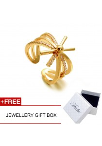 Arche Descendent of The Sun Korean Drama Inspired Layered Adjustable Ring (Gold)
