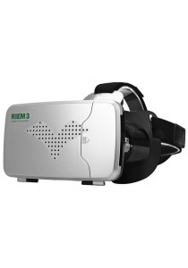 "RITECH Riem 3 3D VR Glasses Head Mounted Headset Private Theater for 3.5 - 6"" Smartphone"